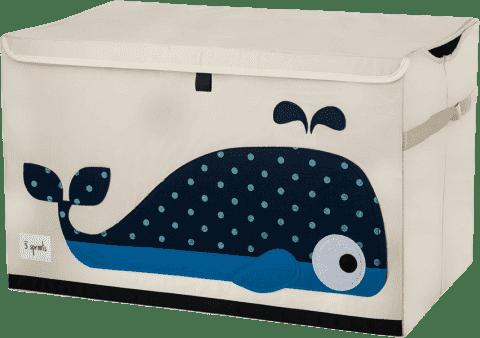 3 SPROUTS Uzatvárateľná debnička na hračky Veľryba