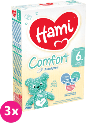 3x HAMI 6+ Comfort (350 g) - dojčenské mlieko