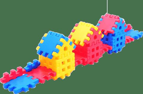 VISTA Stavebnice Blok 1 - plast 36ks