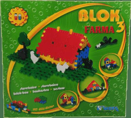 VISTA Stavebnice Blok 3 Farma - plast 197ks