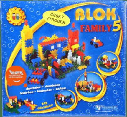 VISTA Stavebnice Blok Family 5 - plast 242ks