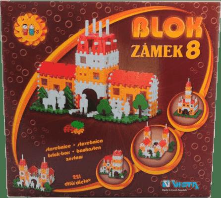 VISTA Klocki Blok 8 Zamek – plastik 221 szt.