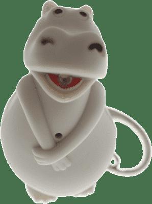 ANSMANN Breloczek do kluczy (dźwięk, światło) Hipopotam – Feedo klub