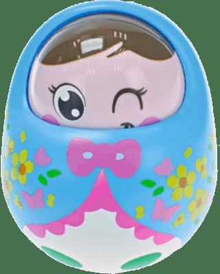 BABY'S HAPPINESS Bábika Rolly Polly – modrá