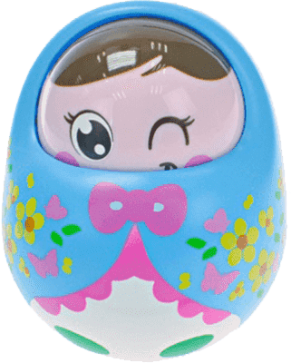 BABY'S HAPPINESS Panenka Rolly Polly - modrá