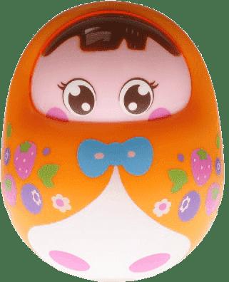BABY'S HAPPINESS Lalka Rolly Polly – pomarańczowa