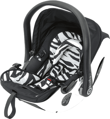 KIDDY Fotelik samochodowy Evolution Pro2 – zebra (0-13kg)