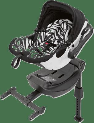KIDDY Autosedačka evo-luna i-Size s isofixovou bází 2 – Zebra white (0-13kg)