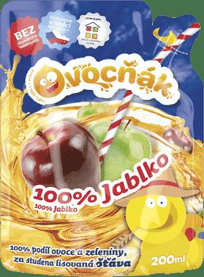 OVOCŇÁK Mošt jablko 100% 200ml - ovocná štáva