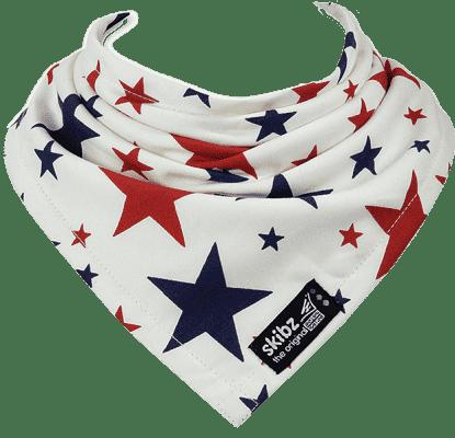 SKIBZ Śliniaczek tkana bawełna Red&Blue Stars
