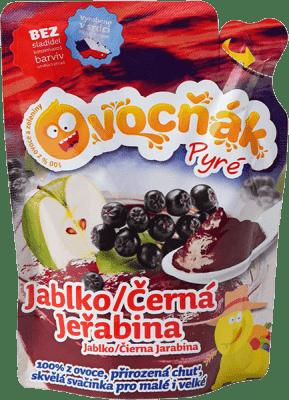Expiracia 2.7.2016: OVOCŇÁK Pyré jablko-jarabina 200ml - ovocné pyré