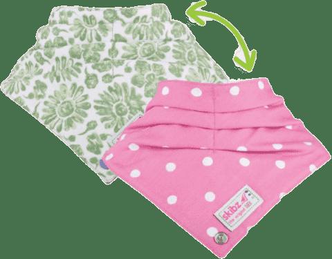 SKIBZ Śliniaczek Doublez Green/Pink