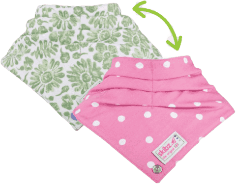 SKIBZ Podbradník Doublez Green/Pink