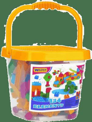 WADER Kbelík s plastovými kostkami mini 134 ks 3+
