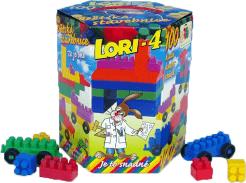 LORI Zestaw klocków LORI 4 – plastik 100szt