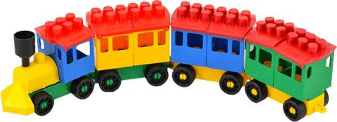 LORI Stavebnice LORI 8 vlak + 5 vagónikov - plast