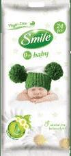 SMILE Baby Heřmánek a aloe vera 24 ks – vlhčené ubrousky