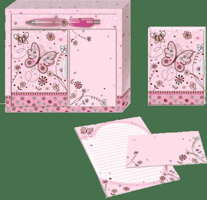 BINO Dárková sada pro psaní dopisů - motýl
