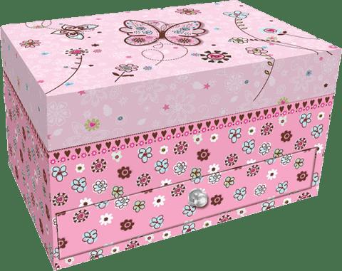 BINO Šperkovnica so šuplíčky - motýľ