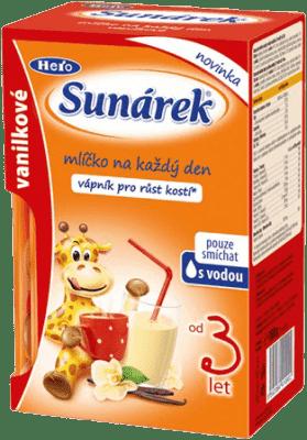 SUNÁREK vanilkové mliečko, 160g (8x20g)