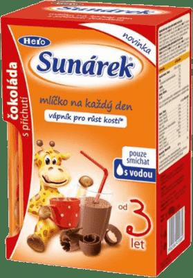 SUNÁREK čokoládové mliečko, 160g (8x20g)