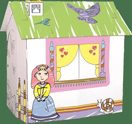 BINO Domek z tektury dla księżniczki
