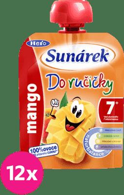 12x SUNÁREK Do ručičky mango (90 g) - ovocný príkrm