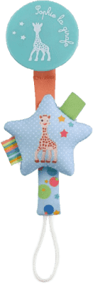 VULLI Klips do smoczka z żyrafą Sophie