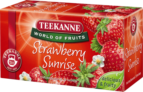 TEEKANNE Strawberry Sunrise (herbata truskawkowa), 20 torebek