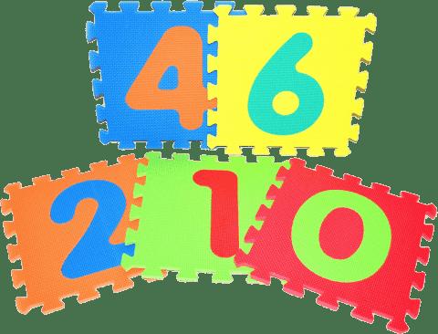 WIKY Pěnové puzzle 10 ks - číslice