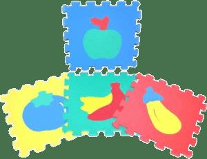 WIKY Pěnové puzzle Ovoce 10 ks – 2 druhy