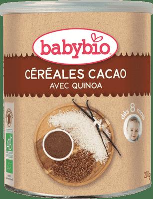 BABYBIO Nemléčná rýžovoquinoová kaše s kakaem 220 g