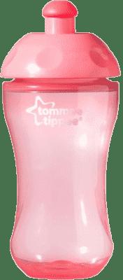 TOMMEE TIPPEE Sportovní láhev 300ml 36m+ Basic-růžová