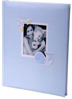 KARPEX Exkluzivní dětské samolepící fotoalbum 24x29/40s HONEY, Modré