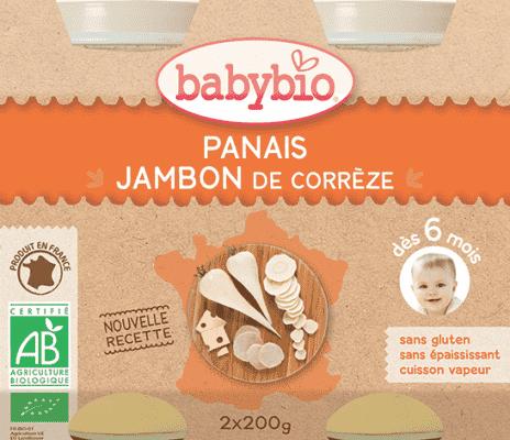 BABYBIO Příkrm pastinák šunka gruyere - maso-zeleninový příkrm (2x200g)