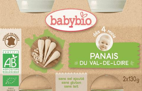 BABYBIO Pasterniak 4m+ (2x130 g)