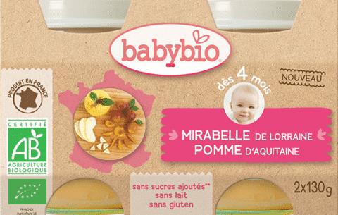 2x BABYBIO Mirabelky jablko 130 g