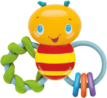 BRIGHT STARTS Kousátko Chew & Rattle Bee (3m+)