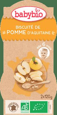 2x BABYBIO Príkrm jablko sušienka 120 g