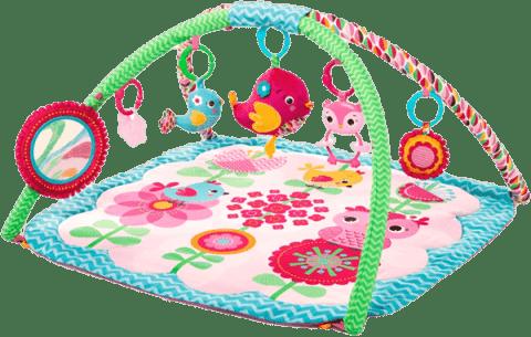 BRIGHT STARTS Deka podporující vývoj s hrazdou a hračkami Bloomin' Birdies Activity Gym