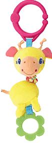 BRIGHT STARTS Hračka na C-kroužku Shimmy Shakers (0 m+) - žirafa