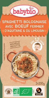 BABYBIO menu Bolonskej špagety s hovädzím mäsom 2x200g