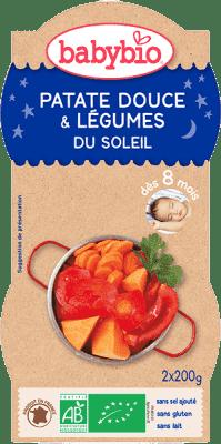 2x BABYBIO Večerné menu sladké zemiaky s letnou zeleninou 200 g