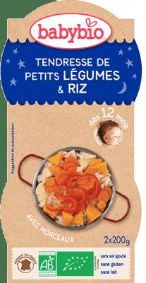 2x BABYBIO Večerné menu jemná zeleninka s ryžou 200 g