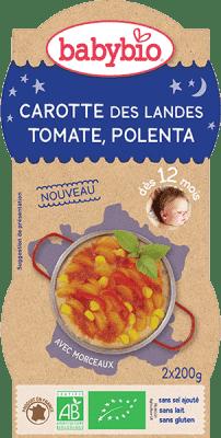 2x BABYBIO Good Night mrkev s rajčatovým pyré, sladkou kukuřicí a polentou 200 g