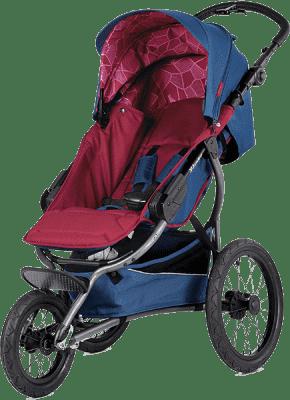 X-LANDER Wózek sportowy X-Run, Berry Red