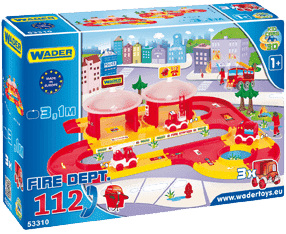 WADER Kid Cars 3D Hasiči plast 3,1 m v krabici 1+ rok