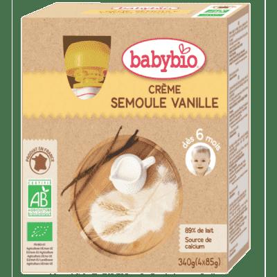 BABYBIO Kapsička krém vanilka krupička 4 x 85 g
