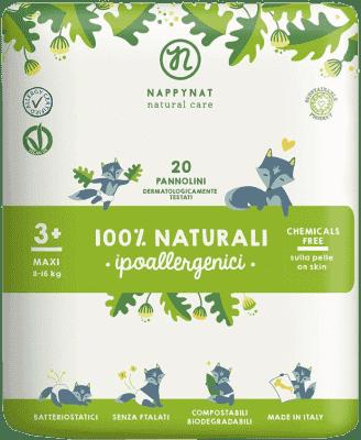 NAPPYNAT Maxi 20ks (8-16kg) – jednorazové bio plienky