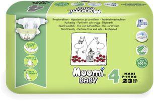 MUUMI Baby 23 ks MAXI 7-14 kg, vel. 4 - jednorázové pleny